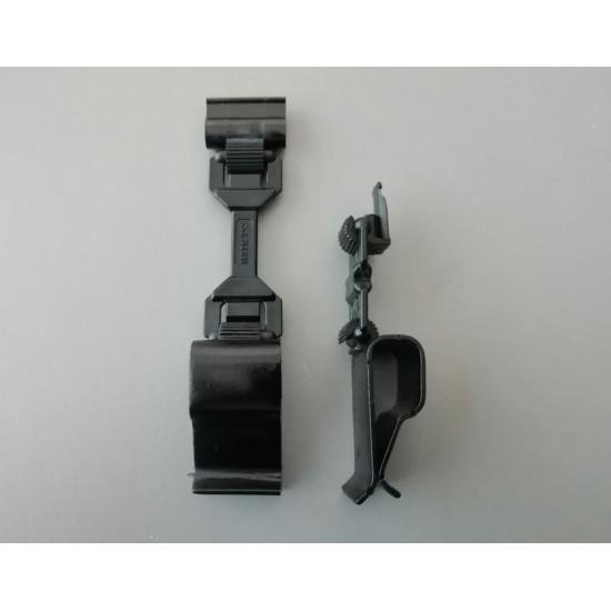 Универсална голяма щипка за касетки и тавички с рамо 10 мм и картодържател, бяла