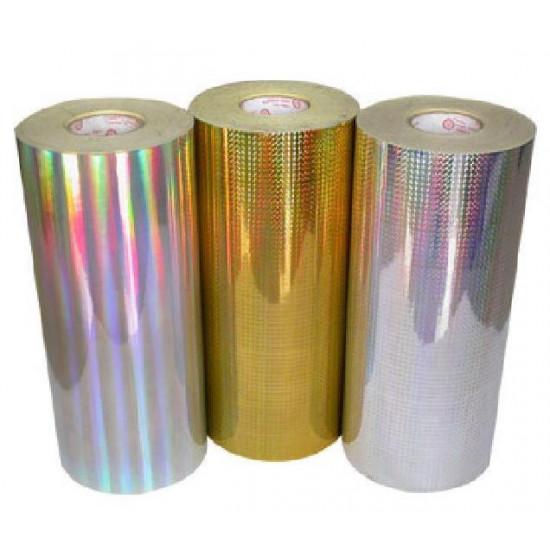 Термотрансферна лента за текстил 17/300 златна/сребърна